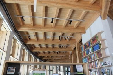 Plafond bois panneau 3 -plis massifs épicéa traité M1