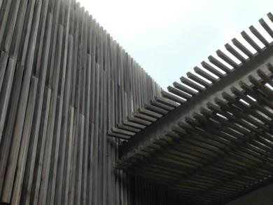 bardage bois pin thermo-modifié ou rétifié claire-voie